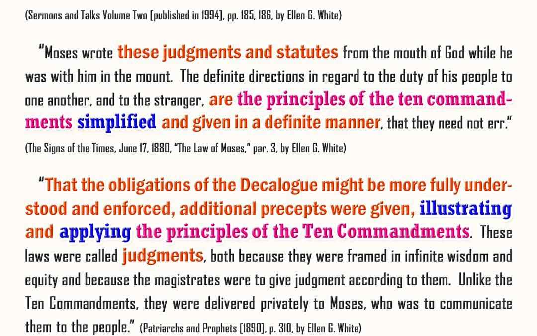 The Statutes Explained the Ten Commandments