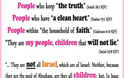 True Israel, the Only Real Children of God