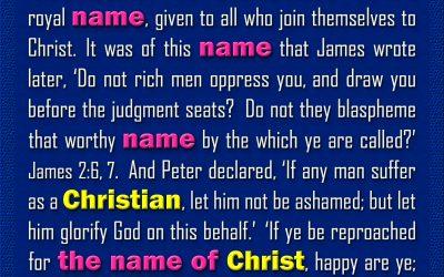 God Gave the Name Christian