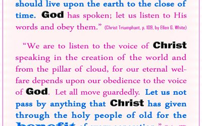 Don't Pass By Anything Christ/God Gave Through the Prophets For Our Benefit