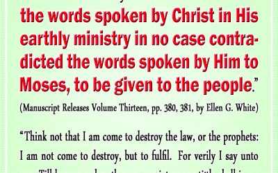 Christ's Words Did Not Contradict His Words Through Moses Before