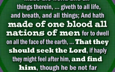 God Made of One Blood All Nations