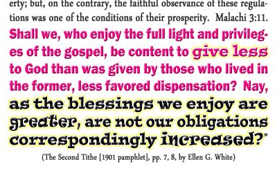 A Second Tithe, Should We Give Less?