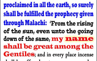 Malachi's Prophecy Will Be Fulfilled in Earth's Last Warning Message