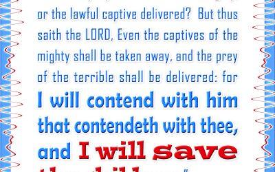 """I Will Save Thy Children"""