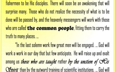 Yah Will Raise Up From Among the Common People to Do His Work, Men and Women